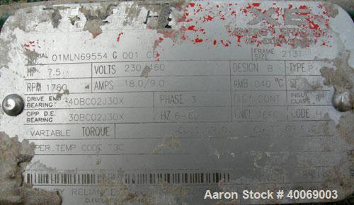 "Used: Lightnin agitator, model 83Q10V.  2"" diameter x approx. 95"" long, 304 stainless steel shaft with  a 3 blade turbine.  ..."