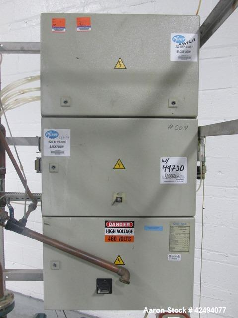 Used- Getinge Sterilizer Autoclave, Model 91415. Stainless steel product contact surfaces, dual sided pass thru design with ...