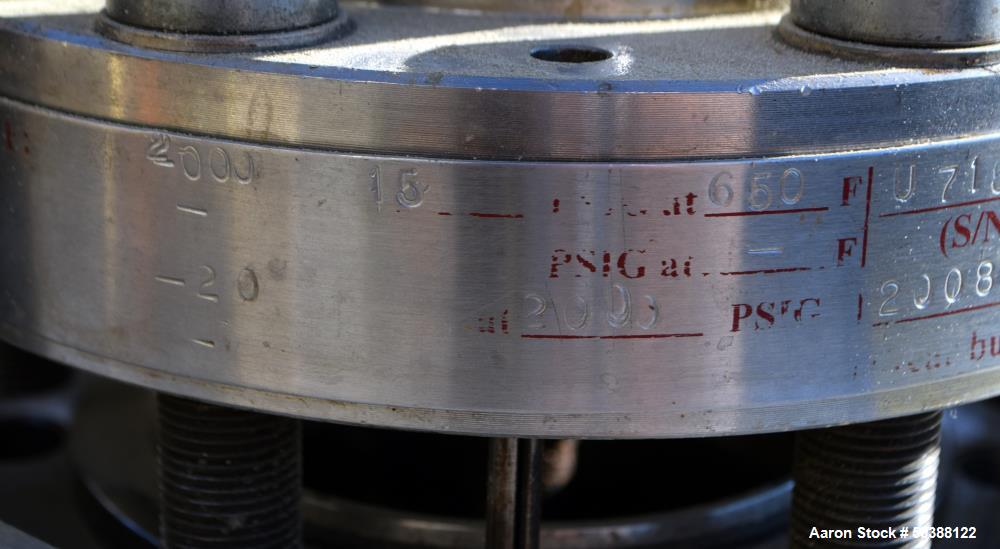 Used- Pressure Products Industries LC Series Reactor, 1 Liter (0.26 Gallon), Model LC-ISBS114Q16X-120, 316 Stainless Steel. ...