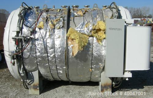 "Used-  WSF Industries Horizontal Autoclave / Sterlizer, 316L Stainless Steel.  Approximately  72"" diameter x 8' long.  Inte..."