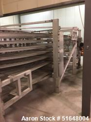 """Used- LJ White Spiral Cooling Conveyor, Model 23040. Approximate 20' diameter. Stainless steel wire 38"""" wide belt. 5 Revolut..."""