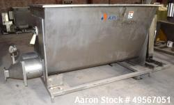 "APV Dough Feeder, Stainless Steel. Non-jacketed V style trough approximate 48"" wide x 78"" long x 39..."