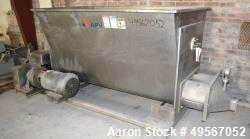 "Used- APV Dough Feeder, Stainless Steel. Non-jacketed V style trough approximate 48"" wide x 78"" long x 39"" deep. (2) approxi..."