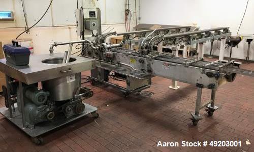 Used- Peters Dual Lane Cookie Sandwiching Machine, Model PT-21335-D.