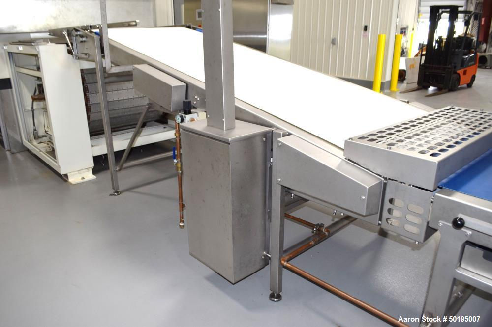 """Used-Rademaker Sheeting System For Chips, 1000mm Wide, Serial# 7193, Built 2008. Consisting of: (1) 10"""" wide x 96"""" long rubb..."""
