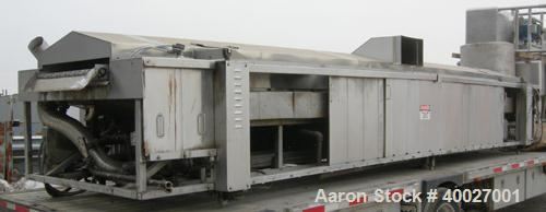 "Used:  Stein Fryer, Stainless Steel Contacts. Approximately 35"" wide x 25' long bottom and top wire mesh belt system, driven..."