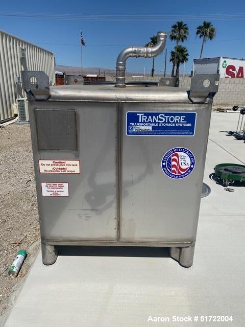 Used- Metal Craft  TranStore Tote Bin, 304 Stainless steel, 213.