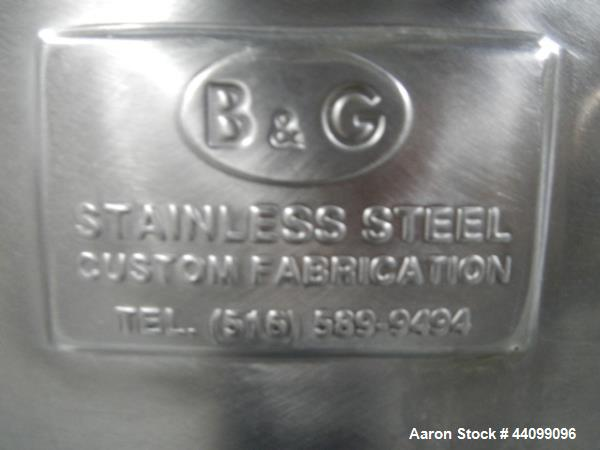 Used- B&G Tote, 9.5 cu ft, 304 Stainless Steel