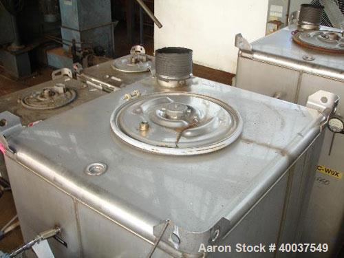 Used- Stainless Steel Hoover Group Tote Bin