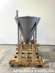 """Unused- Schlueter Eductor / Pump Hopper, 304 Stainless Steel, Vertical. Approximate 36"""" diameter x 26"""" long cone bottom. Vib..."""
