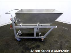d- Liquid Tote, Approximate 25 Cubic Feet (200 gallons), 304 Stainless Steel. Self dumping bin Appro...