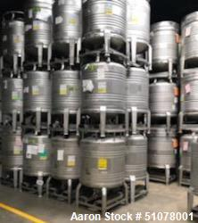 Used-Quantity of 1,500 units. 200 Gallon Tote Bins. Stainless steel.