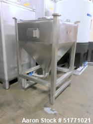 """Used-Alliance Stainless Steel Stackable Liquid Tote Bin, Approximate 150 Gallon (568 Liter), 38"""" x 38"""" x 14.5"""" Straight Side..."""