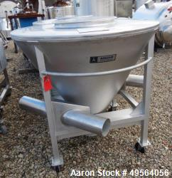 Used- Apache Portable Product Transfer Conical Tote, Approximate 20 Cubic Foot,