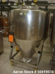 Used- L.B. Bohle (LBB) MC-1400 Mobile 1400 Liter Capacity Stainless Steel Pharmaceutical Grade Tote.