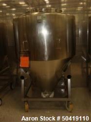 L.B. Bohle (LBB) MC-1400 Mobile 1400 Liter Capacity Stainless Steel Pharmaceutical Grade Tote. Appr...