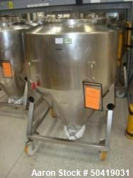 Used- L.B. Bohle (LBB) MC-800 Mobile 800 Liter Capacity Stainless Steel Pharmaceutical Grade Tote.
