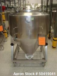 Used-L.B. Bohle (LBB) MC-800 Mobile 800 Liter Capacity Stainless Steel Pharmaceutical Grade Tote. Asset# BR-FAM000425. HIT# ...