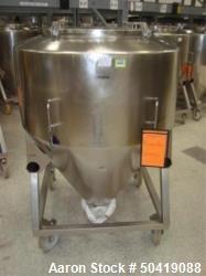 L.B. Bohle (LBB) MC-800 Mobile 800 Liter Capacity Stainless Steel Pharmaceutical Grade Tote. Approx...