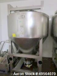 Used- Bohle Stainless Steel Blending Bin, Approximate 70 Cubic Foot (2000 Liter)