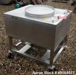 Used- Stainless Steel Transport Hopper/Bin, Approximate 20 Cubic Foot Capacity.