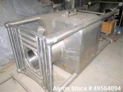 Used- Matcon Storage Bin, Stainless Steel Construction.