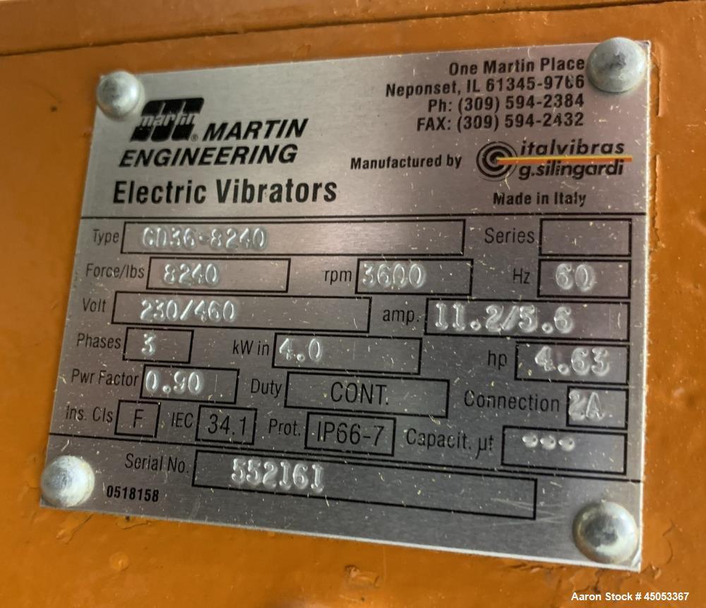 "Unused- Peabody Solids Flow Vibratory Feeder / Live Bottom Bin Discharger, Model 6260C, Stainless Steel. 60"" Diameter. 20"" D..."