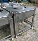 Used-Hoover Industrial Tote Bin, 304 Stainless Steel. Approximate 48