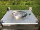 Used- Approximately 600 litre (21.2 Cu.Ft.)stainless steel product containers