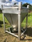 Used-Approximately 600 litre (21.2 Cu.Ft.)stainless steel product containers. Unit measures approximately 1,050mm long x 805...