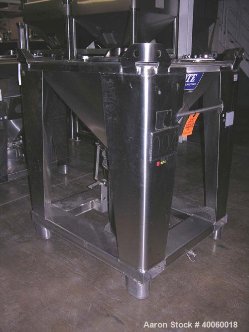Used- Tote Systems Tote Bin, 9 Cubic Feet, Stainless Steel