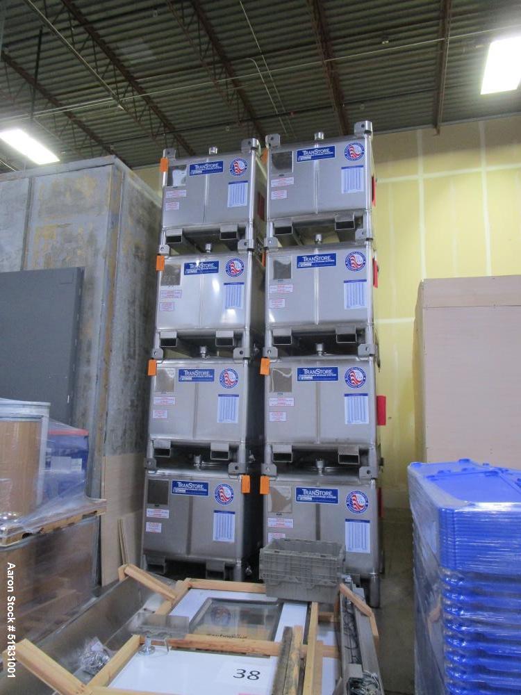 Unsed-Transtore Metalcraft 300 gallon 316L Stainless steel storage bin. Mfg 2018..