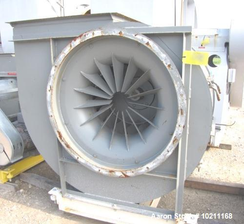 "Used-Buffalo Forge Blower Model 660 BL CL2.  Rated 15000 cfm at 6"" static pressure.  Driven by a 25 hp, 3/60/230/460 volt, 1..."