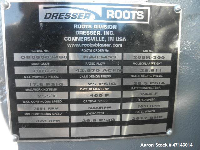 Unused - Dresser/Roots Centrifugal Blower