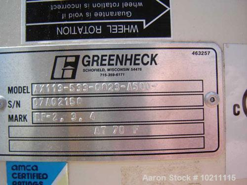 Used-Greenheck Axial Fan, Model AX-113-533-0823-A50. 55,000 cm @ 0.5 inches static pressure. TS = 20,621.0, OV=5,092.0, FRPM...