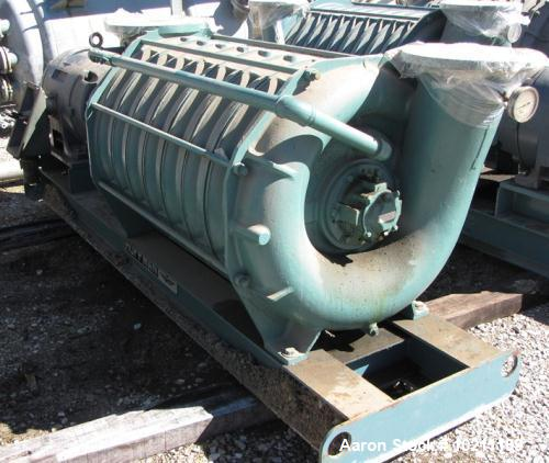 Used- Hoffman Centrifugal Blower, Multi-Stage, Model 65208B3. Driven by a 250 HP, 3/60/460 Volt, 3565 RPM Motor. Mounted on ...