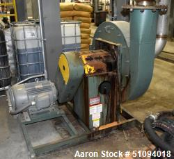 Used- New York Blower Pressure Blower, Carbon Steel. Rated 2000 CFM at 41.3 SP at 2983 rpm at 18.6 BHP, wheel size 2610. Dri...