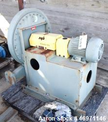 "Unused- New York High Pressure Blower, Carbon Steel. Wheel size & type 2103 Steel, rated 100 CFM at 20.8"" SP at 3500 rpm. Dr..."