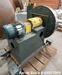 New York Blower Pressure Blower, Carbon Steel. Rated 538 CFM at 30.6 SP at 2923 rpm at 5.29 BHP. Dr...