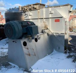"Used- Robinson Industries 350 HP Radial Blower, Type RB122. size 49- 1/"" fan, with 350 hp, 460 volt motor, 21"" x 42"" top dis..."