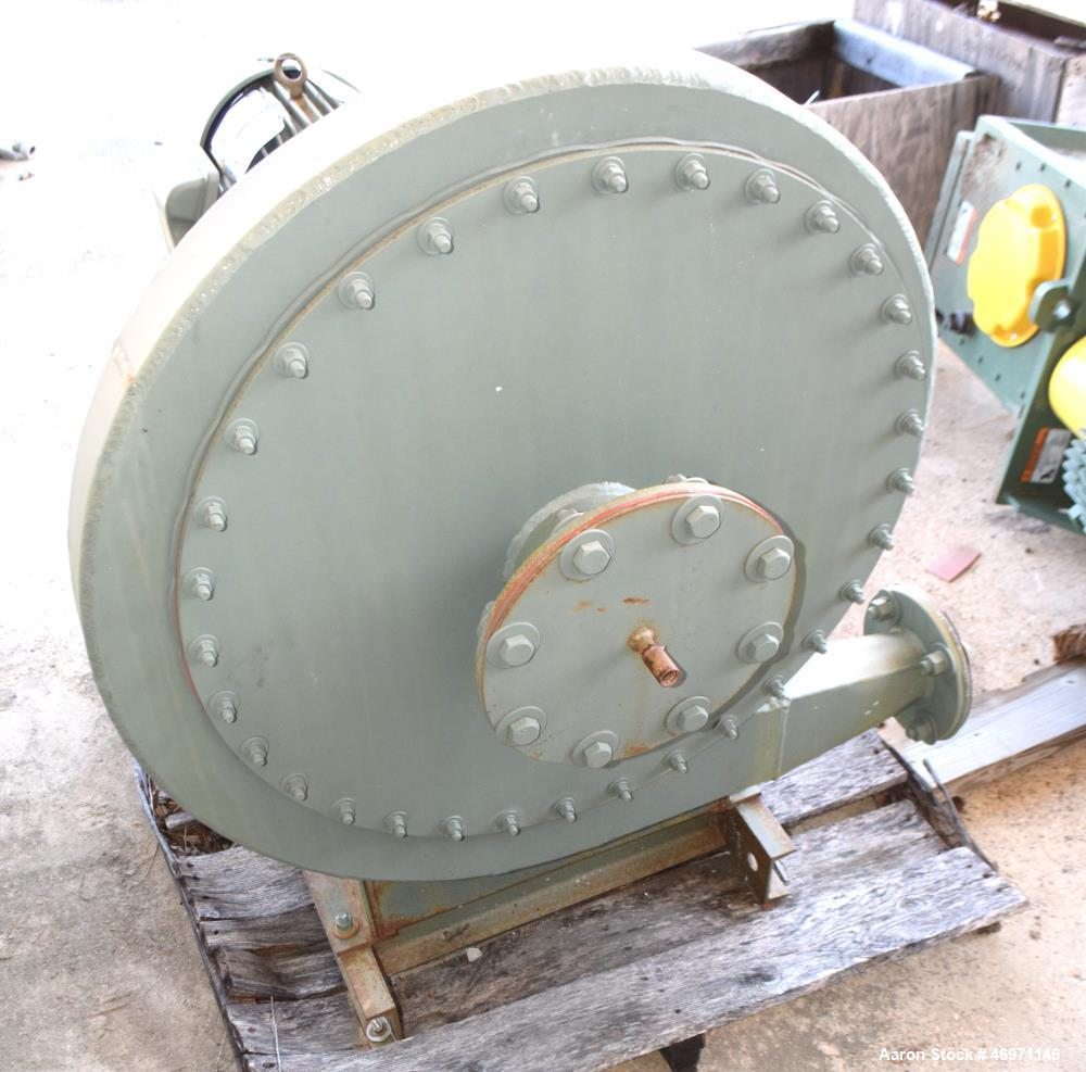 """Unused- New York High Pressure Blower, Carbon Steel. Wheel size & type 2103 Steel, rated 100 CFM at 20.8"""" SP at 3500 rpm. Dr..."""