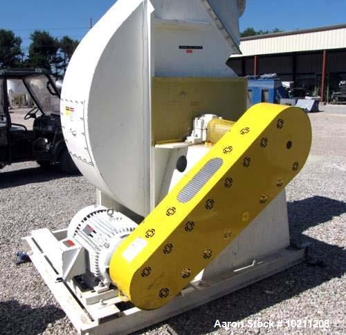 "Used- 19,000 CFM at 9"" SP New York Blower Tadial Tipped fan Size 407 RTS. 50 hp Reliance electric motor, 1775 rpm, 230/460 v..."