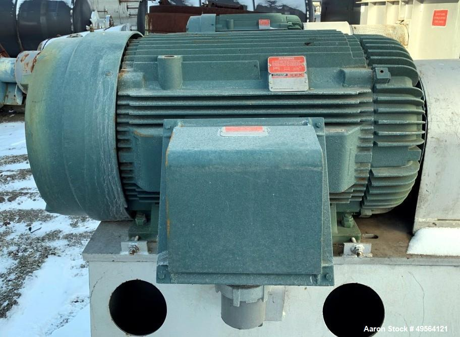 "Used- Robinson Industries 350 HP Radial Blower, Type RB122. Size 49- 1/"" fan, with 350 hp, 460 volt motor, 21"" x 42"" tangent..."