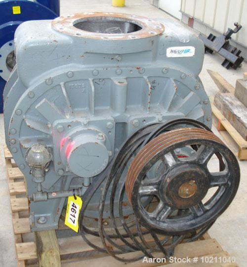 "Used-Roots Whispair Blower Model 1216-JHRAS, rotary lobe blower.  Inlet volume 2250 cfm, inlet pressure 8"" mercury vacuum @ ..."