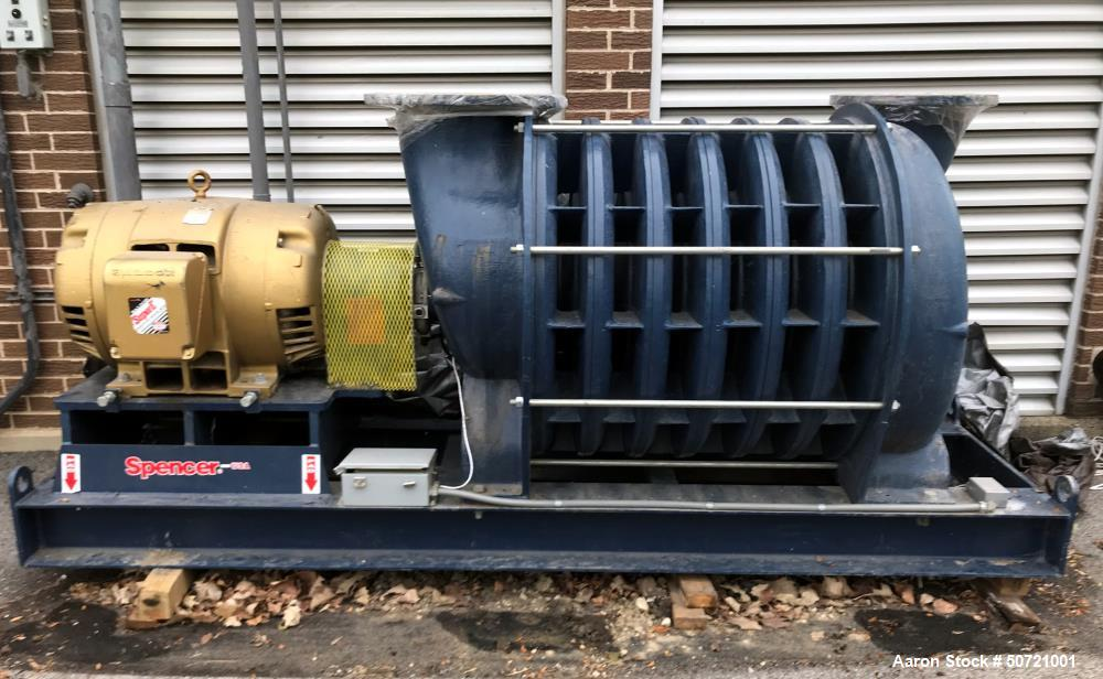 Used- Spencer Power Mizer Multistage Centrifugal Blower, Model C51R2644IA1