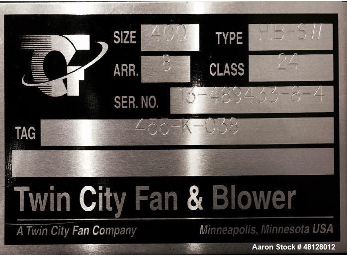 Unused- Twin City Size Blower/ Fan, Model 400.