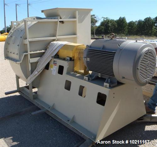 "Unused-Twin City Blower, Type HRT-SW, Size 360.  Rated 37,400 cfm @ 14"" SP.  Driven by a 125 hp, 3/60/460 volt, 1785 rpm mot..."