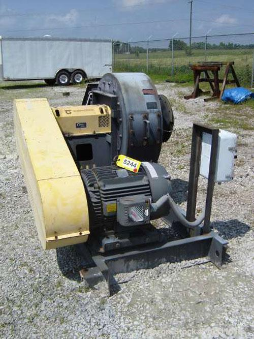 "Used-4500 SCFM at 40"" S.P. 50 HP Twin City Fan. Size 915, type RBO-SW, arrangement 1, class 45, CWBAU rotation. Serial #98-1..."