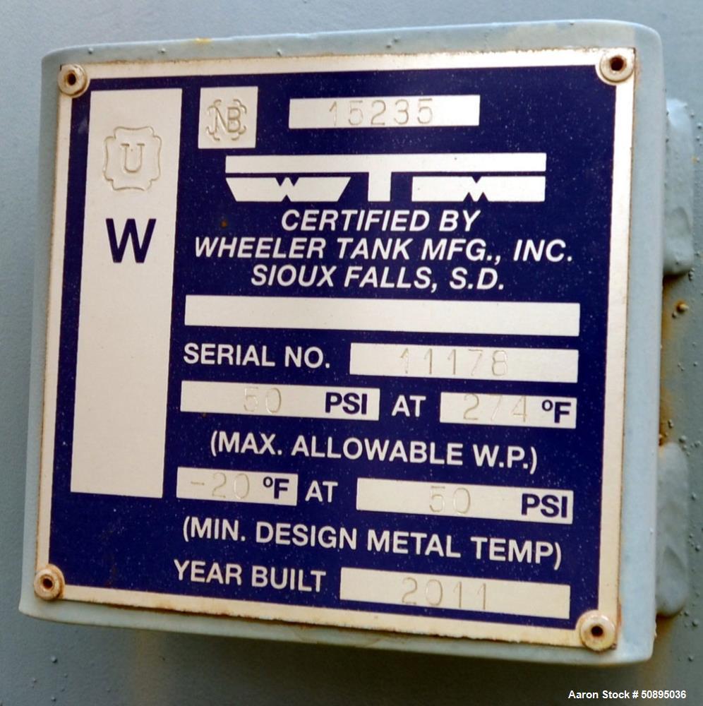 Used- Industrial Steam Spray-Tray Deaerator, Model 6ST5
