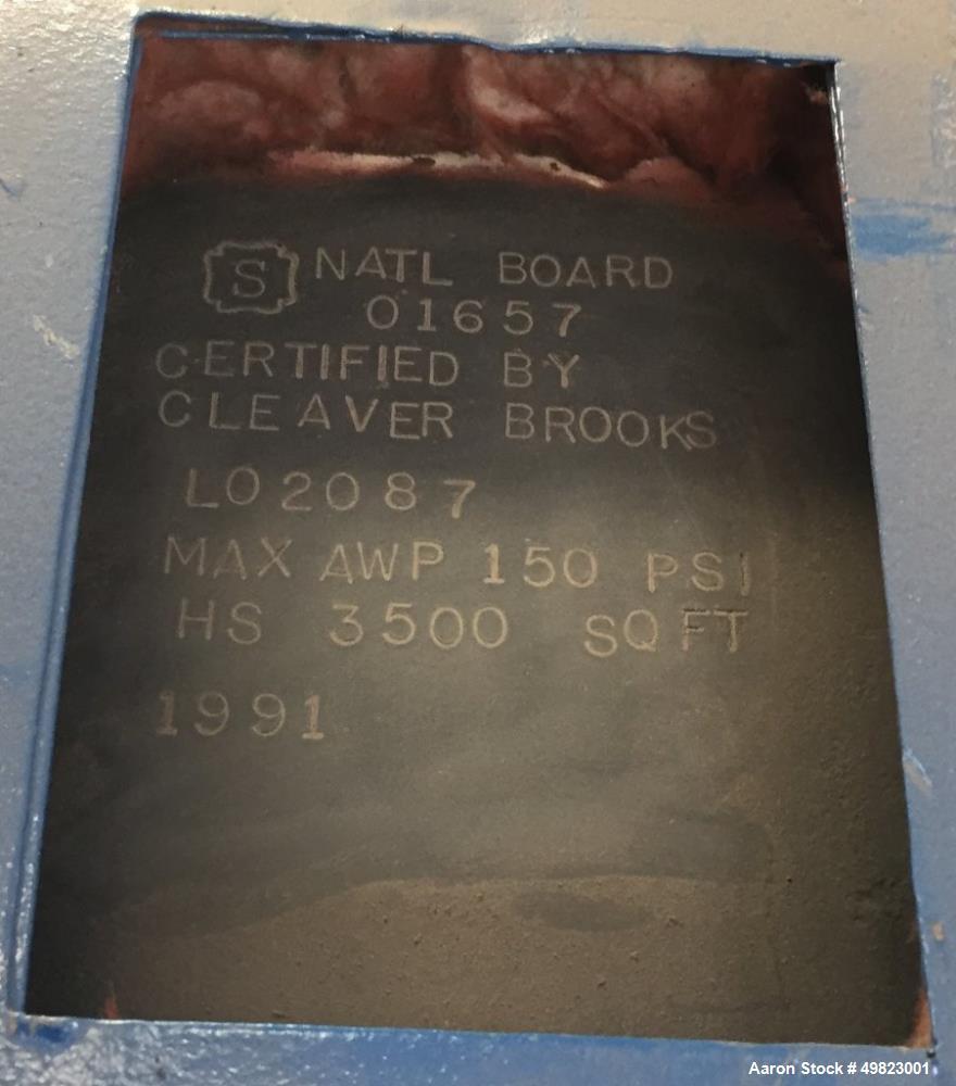 Used- Cleaver Brooks Packaged Firetube Boiler, Model CBLE700-800.